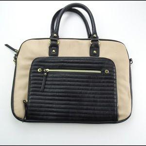 Steve Madden Computer Bag Black and Tan
